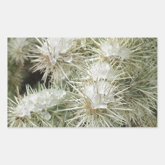Icy Cactus Rectangular Sticker