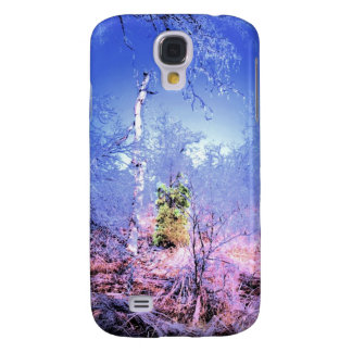 Icy Dead Tree with Evergreen Galaxy S4 Case