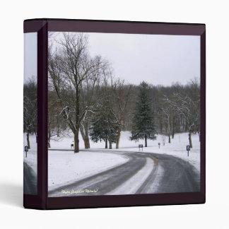Icy Deserted Road Binder