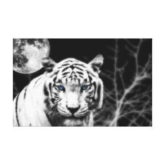 Icy Eyed White Tiger Gallery Wrapped Canvas