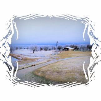 Icy Farm Photo Sculpture