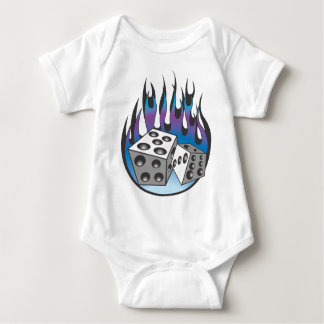 Icy Flaming Dice Baby Bodysuit