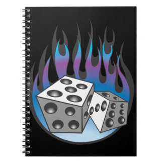 Icy Flaming Dice Note Books
