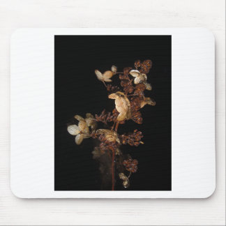 Icy Flowers Mouse Pad