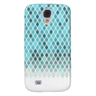 Icy Geometric Diamonds (White Outline) Galaxy S4 Case