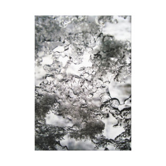icy glass canvas print