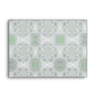 Icy Green Christmas Plaid Envelope