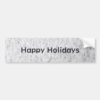 Icy Happy Holidays Car Bumper Sticker