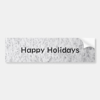 Icy Happy Holidays Bumper Sticker