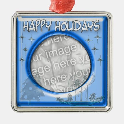 icy Happy holidays template Ornament