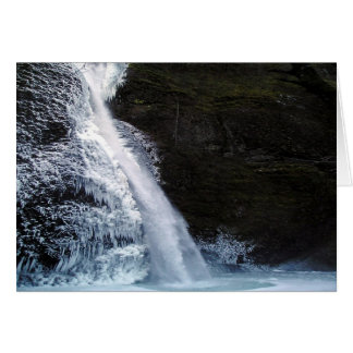 Icy Horsetail Falls Card
