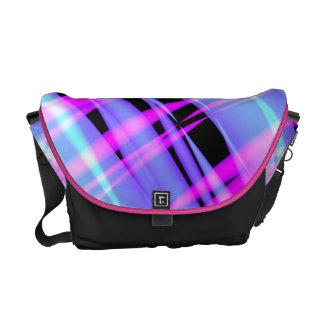Icy Hot Retro Plaid Messenger Bag