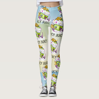 ICY JUICY CUTE MONSTER ALIEN CARTOON LEGGINGS 2