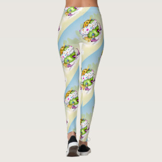ICY JUICY FUNNY ALIEN CARTOON LEGGINGS