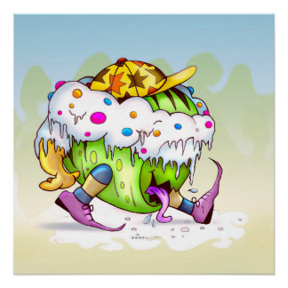 ICY JUICY MONSTER ALIEN PERFECT POSTER