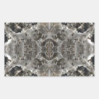 Icy Kaleidoscope pattern Rectangular Sticker