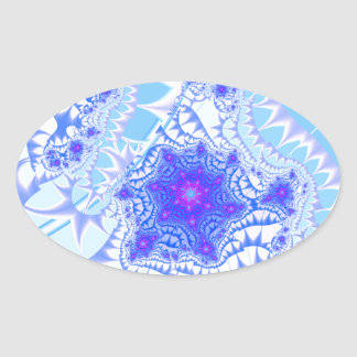 Icy Lace Oval Sticker