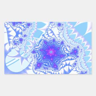 Icy Lace Rectangular Sticker