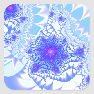 Icy Lace Square Sticker