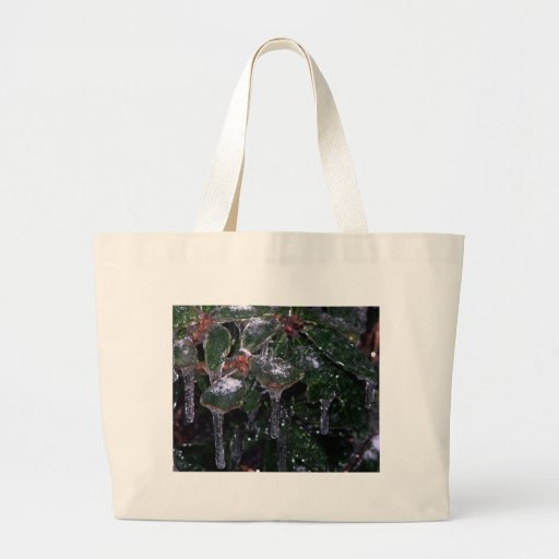 icy leaves canvas bags