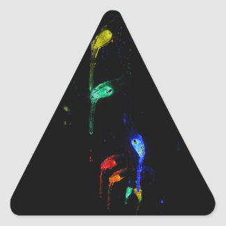 Icy Lights Triangle Sticker