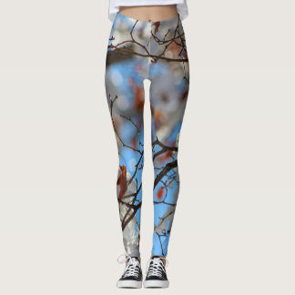 Icy Maple Tree Yoga Running Exercise Leggings