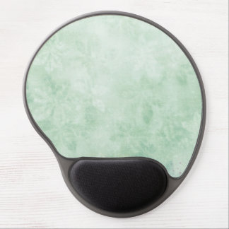 Icy Mint Green Snow Flake Flowers Light Green Pale Gel Mouse Pad