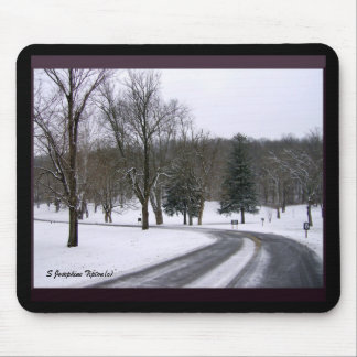 Icy Park Road Mouse Pad