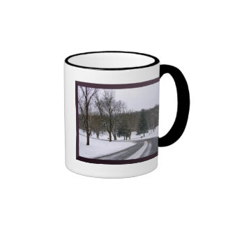 Icy Park Road Coffee Mugs