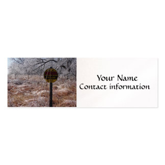 Icy Petroleum Pipeline Warning Business Card Template