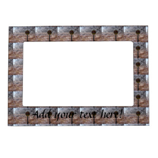 Icy Petroleum Pipeline Warning Magnetic Photo Frame