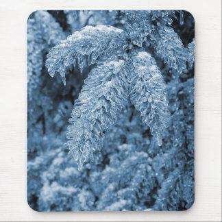 Icy Pine Mouse Pad