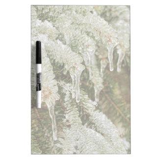 Icy Pine Needles Dry Erase Board