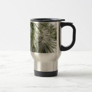Icy Pine Needles Travel Mug