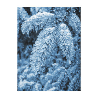 Icy Pine Wrapped Canvas