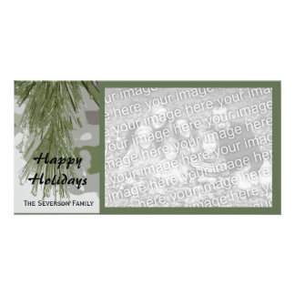 Icy Pines Happy Holidays Photo Card