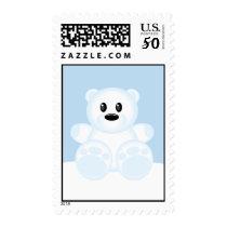 Icy Polar Bear Postage