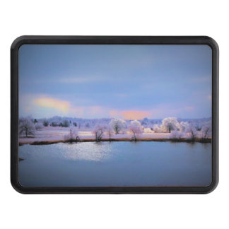 Icy Pond and Willows in Pastel Tow Hitch Cover