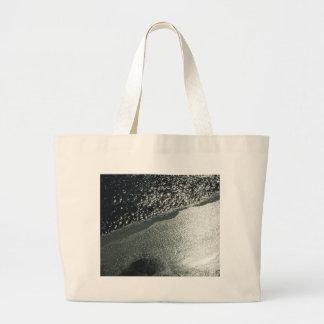 Icy river large tote bag