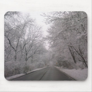 Icy Road Mouse Pad