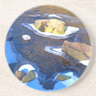 Icy Rocky River Drink Coasters