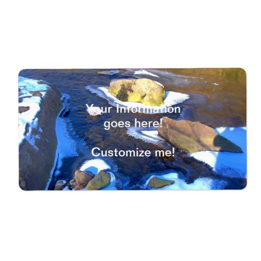 Icy Rocky River Personalized Shipping Labels