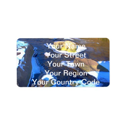 Icy Rocky River Personalized Address Labels