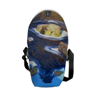 Icy Rocky River Messenger Bag