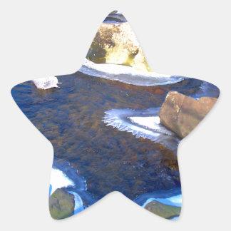 Icy Rocky River Star Sticker
