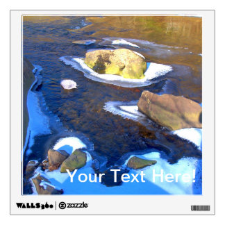 Icy Rocky River Wall Sticker