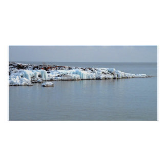 Icy Shore Photo Card Template