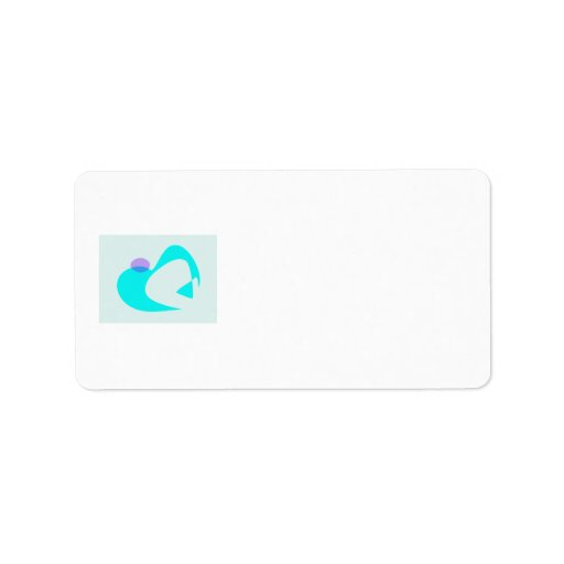 Icy Sky Personalized Address Label
