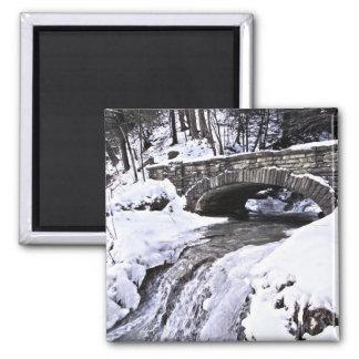 Icy snow bridge magnet