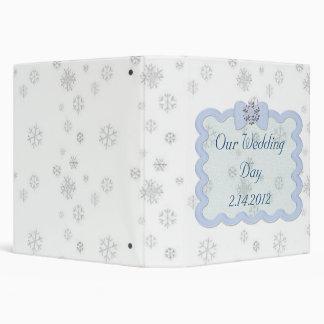 Icy Snowflake Celebration 3 Ring Binders